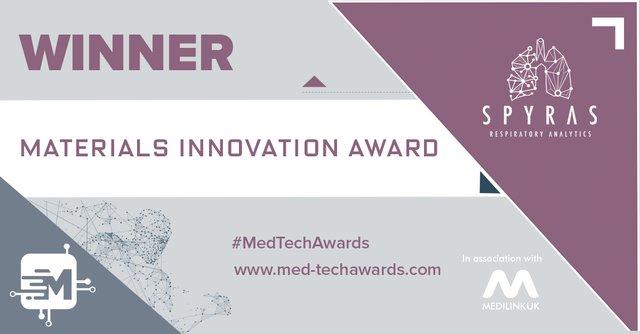 Winner - materials innovation award - Spyras.png