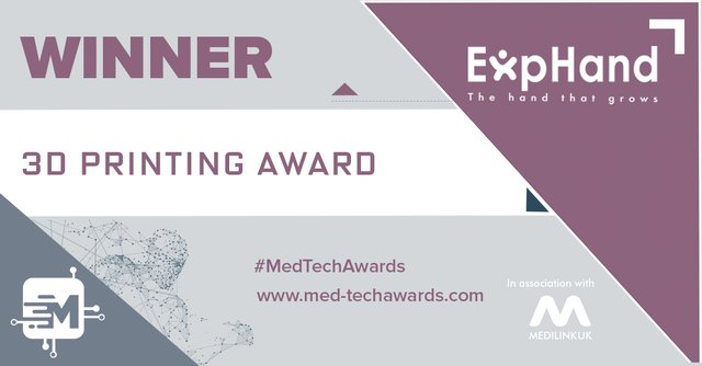 Winner - 3d printing award - Exphand.png